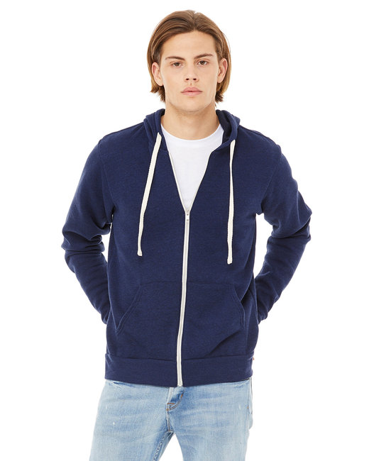 Canvas [3909] Unisex 8.2 oz. Triblend Full-Zip Hoodie