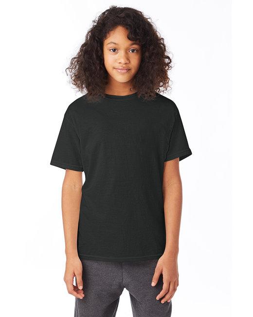Hanes 5370 Youth 5.5 oz., 50/50 ComfortBlend EcoSmart T-Shirt - Medium - BLACK at Sears.com