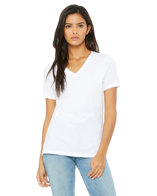Bella [6405] Ladies'  4.2 oz. Missy Short-Sleeve V-Neck Jersey T-Shirt