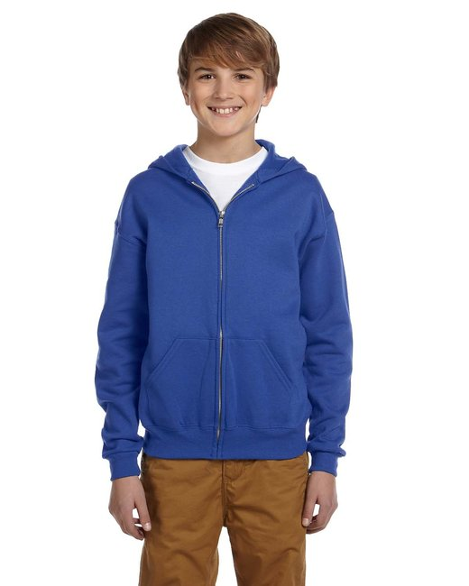 Jerzees [993B] Youth  8 oz. NuBlend® 50/50 Full-Zip Hood
