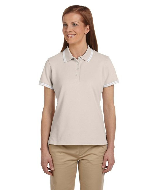 Chestnut Hill [CH113W] Ladies'  Tipped Performance Plus Piqué Polo