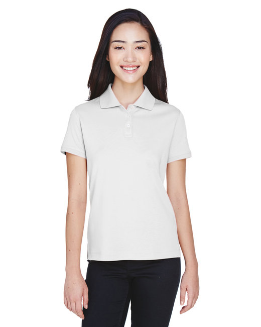Devon & Jones [D140SW] Ladies'  Solid Perfect Pima Interlock Polo
