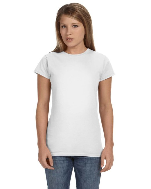 Gildan G640L Ladies 4.5 oz. SoftStyle Junior Fit T-Shirt - White - L at Sears.com