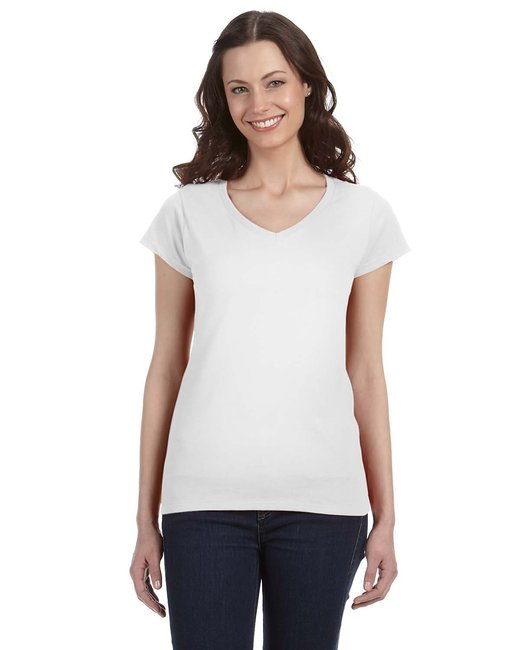 Gildan [G64VL] Ladies'  4.5 oz. SoftStyle Junior Fit V-Neck T-Shirt