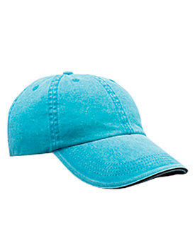 166 Anvil Solid Low-Profile Sandwich Trim Pigment-Dyed Twill Cap