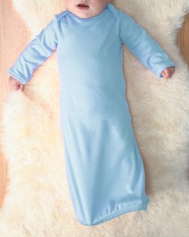4406 Rabbit Skins Drop Ship Infant Baby Rib Lap Shoulder Layette