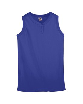550 Augusta Drop Ship Ladies' Sleeveless Two-Button Softball Jersey