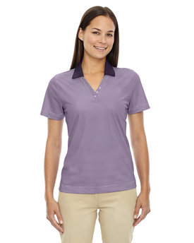 75115 Ash City - Extreme Ladies' Eperformance™ Launch Snag Protection Striped Polo