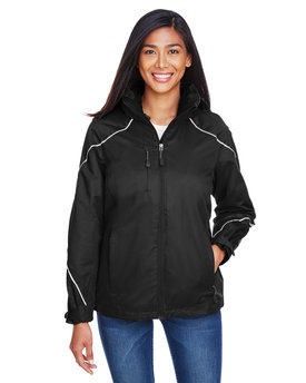 78196 Ash City - North End Ladies' Angle 3-in-1 Jacket with Bonded Fleece Liner