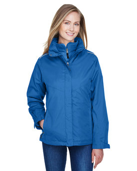 78205 Ash City - Core 365 Ladies' Region 3-in-1 Jacket with Fleece Liner