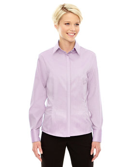 78689 Ash City - North End Ladies' Refine Wrinkle-Free Two-Ply 80's Cotton Royal Oxford Dobby Taped Shirt
