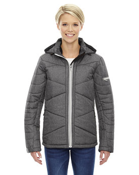78698 Ash City - North End Sport Blue Ladies' Avant Tech Mélange Insulated Jacket with Heat Reflect Technology