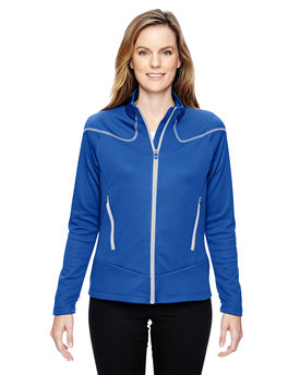 78806 Ash City - North End Sport Red Ladies' Cadence Interactive Two-Tone Brush Back Jacket