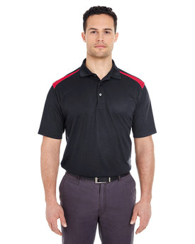 8215 UltraClub Adult Cool & Dry Two-Tone Mesh Piqué Polo