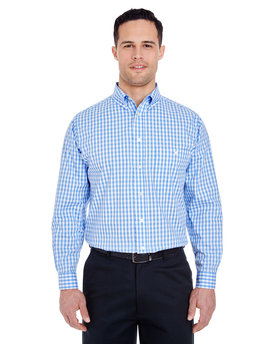 8385 UltraClub Men's Medium-Check Woven