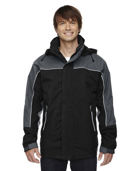 88052 Ash City - North End Adult 3-in-1 Seam-Sealed Mid-Length Jacket with Piping
