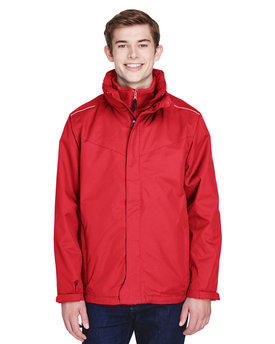 88205 Ash City - Core 365 Men's Region 3-in-1 Jacket with Fleece Liner