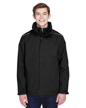88205T Ash City - Core 365 Men's Tall Region 3-in-1 Jacket with Fleece Liner