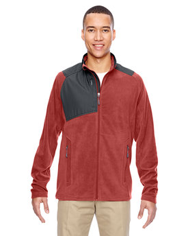 88215 Ash City - North End Men's Excursion Trail Fabric-Block Fleece Jacket