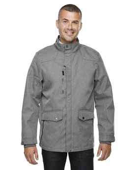 88672 Ash City - North End Sport Blue Men's Uptown Three-Layer Light Bonded City Textured Soft Shell Jacket
