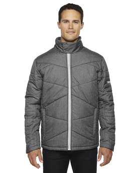 88698 Ash City - North End Sport Blue Men's Avant Tech Mélange Insulated Jacket with Heat Reflect Technology