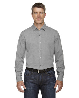 88802 Ash City - North End Sport Blue Men's Mélange Performance Shirt