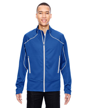 88806 Ash City - North End Sport Red Men's Cadence Interactive Two-Tone Brush Back Jacket
