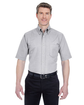 8972T UltraClub Men's Men's Tall Classic Wrinkle-Resistant Short-Sleeve Oxford