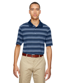 A123 adidas Golf Men's puremotion® Textured Stripe Polo