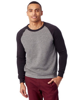 AA3202 Alternative Men's Champ Eco-Fleece Colorblocked Sweatshirt