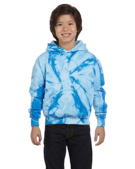 CD877Y Tie-Dye Youth 8.5 oz. Tie-Dyed Pullover Hood