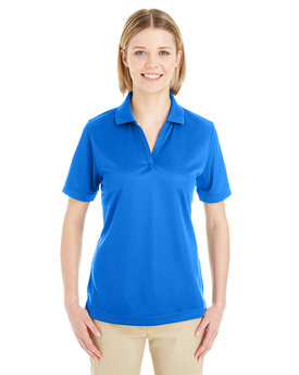 CE100W Ash City - Core 365 Ladies' Pilot Textured Ottoman Polo