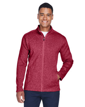 DG793 Devon & Jones Men's Bristol Full-Zip Sweater Fleece Jacket