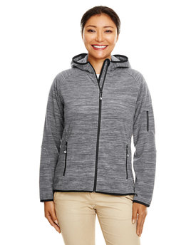 DP700W Devon & Jones Perfect Fit™ Mélange Velvet Fleece Hooded Full-Zip