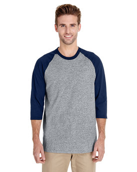 G570 Gildan Adult Heavy Cotton™ 5.3 oz., 3/4 Raglan Sleeve T-Shirt