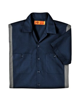 LS524 Dickies Men's 4.25 oz. Industrial Colorblock Shirt