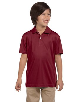 M353Y Harriton Youth Double Mesh Polo