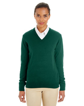 M420W Harriton Ladies' Pilbloc™ V-Neck Sweater