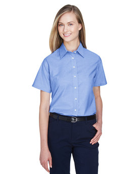M600SW Harriton Ladies' Short-Sleeve Oxford with Stain-Release