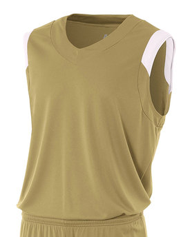 N2340 A4 Drop Ship Adult Moisture Management V Neck Muscle Shirt