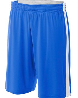 N5284 A4 Drop Ship Adult Reversible Moisture Management Shorts