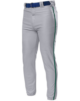 N6178 A4 Drop Ship Pro Style Elastic Bottom Baseball Pants
