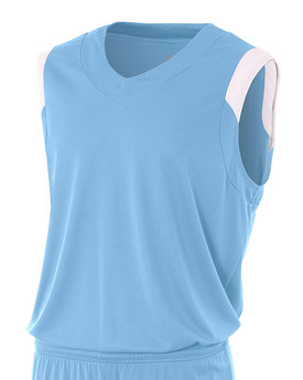 NB2340 A4 Drop Ship Youth Moisture Management V Neck Muscle Shirt