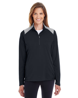 TT27W Team 365 Ladies' Command Colorblock Snag-Protection Quarter-Zip