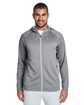 TT38 Team 365 Men's Excel Mélange Performance Fleece Jacket